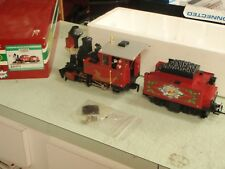 LGB CHRISTMAS STEAM ENGINE AND TENDER 25171 THE BIG TRAIN G SCALE LOCOMOTIVE