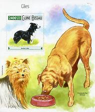 Guinea-Bissau 2015 Mnh Perros 1v Ss Mascotas Border Collie Yorkshire Terrier Retriever