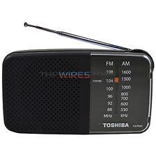 Toshiba TX-PR20 Black AM/FM Pocket Portable Battery Operated Radio Tuning
