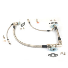 Turbo Oil feed & Drain Line Kit Fit TOYOTA 1JZ-GTE Twin CT12A Series Front Sump