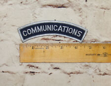 Communications Uniform Patch New Embroidered