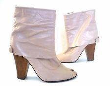 Low boots d été ♥ TEXTO ♥ P 37 Pointure cuir nude Escarpin chaussure talon haut