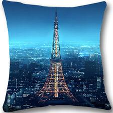 Paris Eiffel Tower Zippered Home Decorative Pillow Case Cushion Cover 18' L235