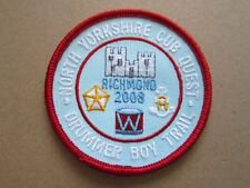 North Yorkshire Cub Quest 2008 Cloth Patch Badge Boy Scouts Scouting L3K B