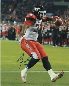 JEROME MESSAM SIGNED AUTOGRAPHED CALGARY STAMPEDERS 8X10 PHOTO