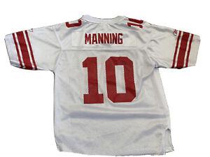 Reebok NFL New York Giants Eli Manning Football Jersey Youth L 14-16 Free Ship!