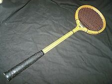 "Vintage Wooden Spalding ""Match Play"" Squash Racquet 27 1/4"" Long"