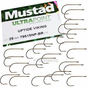 Mustad Uptide Viking Sea Fishing Bait / Worm Hooks 79515br Choose Size