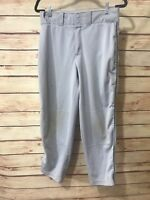 Wilson Youth Baseball Pants Size XL Gray Elastic Waist Athletic Sports Wear