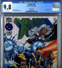 PRIMO:  X-MEN #50 rare VARIANT cover NM/MT 9.8 HIGHEST CGC Census Marvel comics