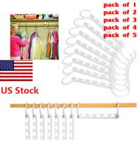 US Magic Hanger Clothing Rack Clothes Hook Wonder Closet Organizer Space Saver