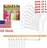 USA White Closet Organizer Space Saver Hanger Holder Clothing Rack Clothes Hook