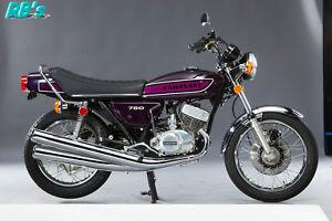 Kawasaki H2 750 Triple 1975 H2c Decal set Purple - The BEST!