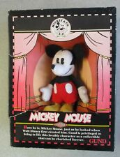 MIB OPENED GUND DISNEY ANTIQUE MICKEY MOUSE STUFFED PLUSH FIGURE