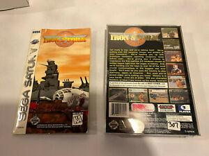 Iron Storm 🔥 Sega Saturn Manual Instruction + Case Insert + Registration Card