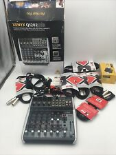 Behringer XENYX Q1202USB 12 Channel Analog Mixer Pro Audio Mixing Cables