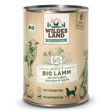 Wildes Land | Lamm mit Kartoffeln BIO | 6 x 400 g | Nassfutter | Hundefutter