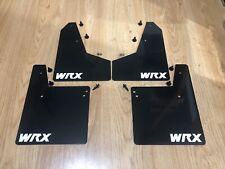 Mini Mudflaps WRX or STI 01 -07 Direct fit! BLACK WRX
