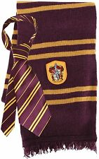 Harry Potter GRYFFINDOR NECKTIE & LAMBS WOOL SCARF Crest Neck Tie Set LICENSED