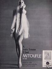 PUBLICITÉ 1967 BAS SLIP A TOUTE FEMME IL FAUT MITOUFLE LE VRAI - ADVERTISING