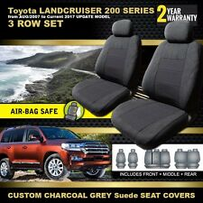 Custom Seat Covers for Toyota Landcruiser 200 SERIES GXL 10/2007-2018 3ROW CHARC