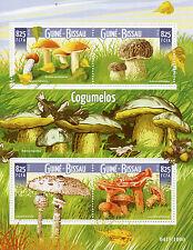 Guinea-Bissau 2015 MNH Mushrooms 4v M/S Fungi Nature Boletus Cogumelos