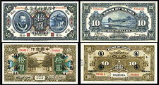 !COPY! CHINA 10$ DOLLARS 1912 + 10 YUAN 1918 BANKNOTES !NOT REAL!