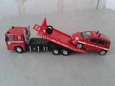 VIGILI DEL FUOCO -POMPIERI -FIRE ENGINE- CARRO ATTREZZI + FIAT PANDA 1/43 -