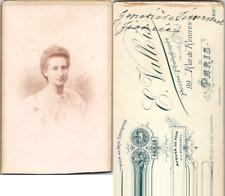 CDV Vallois, Paris, Jeune fille fiancée nommée Geneviève Simonnet, circa 1900 Vi