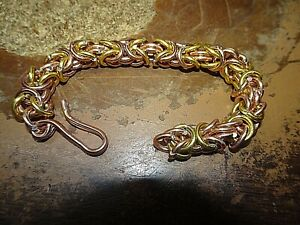 HAND BRAIDED COLORED ALUMINUM ANKLE OR WRIST BRACELET