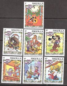 Anguilla 1983 Disney Christmas Jiminy Cricket MNH (SC# 547-553)