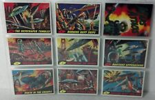 1994 Topps Mars Attacks Basic set 9 cards (of 55) low card #s. NM/VF