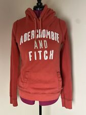 Abercrombie And Fitch Women Orange Hoodie Size Large