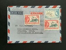 BRITISH SOLOMON ISLANDS 1958 AIR MAIL COVER TO USA