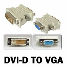 DVI-D DVI MALE 24+1PIN TO VGA FEMALE SVGA 15PIN VIDEO MONITOR ADAPTER CONVERTER
