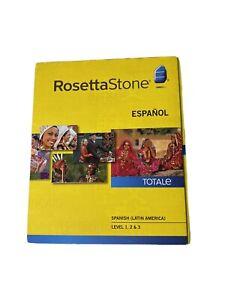 NEW Rosetta Stone Spanish Espanol Version 4 Level 1-3 Set New Box Sealed