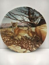 The Cougar Plate/Knowles-Ltd.Ed. 2nd issue-Lee Cable-1989 Plate #3524C