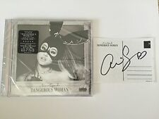New Ariana Grande Dangerous Woman SIGNED Autograph Postcard CD Album Bundle Set