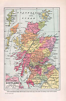 1947 DOUBLE-SIDED MAP SCOTLAND INVERNESS PERTH SHETLAND ~ GEOLOGICAL LAND HEIGHT
