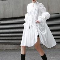 2020 Womens  Designer Inspired Oversized Puff Sleeves Shirt  Dress