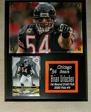 "Brian Urlacher GREAT GIFT Chicago Bears w/ Sport Card Plaque 8"" x 10"" Black"
