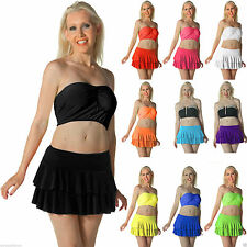 New Ladies/Girls UV Neon Ra-Ra Rara Skirt Dance Party Casual Club Wear