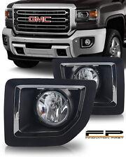 2015 2016 GMC Sierra 2500 Fog Light Bumper Lamp Clear PAIR Ready to Install Kit