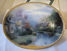Bradford Exchange 1994 Le Thomas Kinkade Lamplight Brooke Decorative Plate