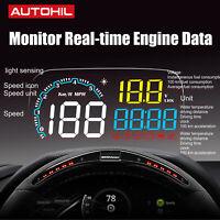 C600 Car HUD OBDII Head Up Display Fuel Engine Data Scan Speed Temp Alarm