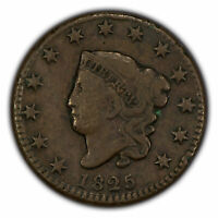 1825 1c Coronet Head Large Cent - Mid-Grade Coin - SKU-X1547