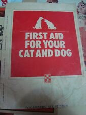 Old vintage First Aid Book for Animal from USA 1985