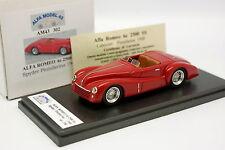 Alfa Model 43 1/43 - Alfa Romeo 6 2500 Cabriolet Pininfarina Rouge 1948
