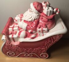 Noble Excellence Twas The Night Before Christmas  Santa Claus Sleigh Cookie Jar