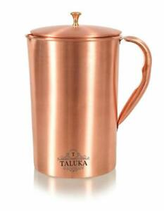 Pitcher Pure Copper Jug 1500 mL Reusable Water Pitcher Lid Ayurveda Health Bf